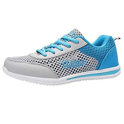 RAINED-Women's Fashion Sneakers Leisure Athletic Flat Running Shoes Mesh Breathable Shoes Non-Slip Lightweight Shoes