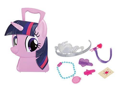 Jamara 410099 Koffer Twilight Sparkle-6-Teiliges Spieleset, stylen wie eine Prinzessin, Stabiler und handlicher Tragekoffer, kindgerechte My Little Pony Design, pink