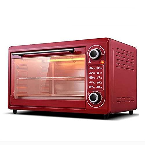 Mini freidor de aire del horno, Horno de tostadora 2000W 220V 48L Horno de horno eléctrico para hornear, regalo de la reunión anual de gran capacidad, Máquina de pizza de tortas de huevo de horno múlt