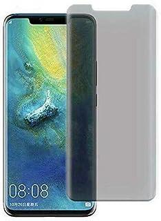 واقي شاشة حماية للخصوصية زجاجي كاملة منحنية الأطراف لهاتف هواوي ميت 20 برو - اسود