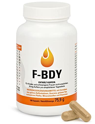 Vihado F-BDY – Kapseln für einen normalen Stoffwechsel mit Pflanzenstoffen, Vitaminen und Zink – mit Grüner Kaffee Extrakt und Grüner Tee Extrakt – 100 Kapseln