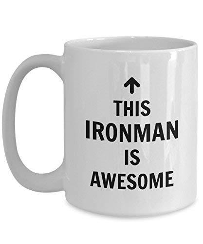 N\A Taza de Ironman, Este Ironman es Impresionante, Gran Regalo para un Ironman Impresionante