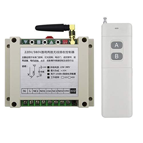 AC 110 V 220 V 230 V mando a distancia interruptor inalámbrico bombas de agua lámpara mando a distancia universal de alto rendimiento 4 canales módulo de potencia de control industrial
