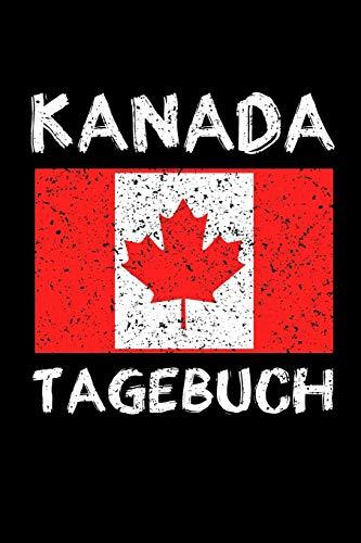 KANADA TAGEBUCH: Reisetagebuch Kanada | zum Eintragen der Erlebnisse |120 Seiten, Punkteraster | Geschenkidee für Kanada Fans | Format 6x9 DIN A5 | Soft cover matt
