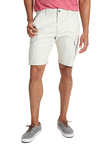 Wrangler Authentics Men's Classic Relaxed Fit Stretch Cargo Short, Dark Putty Ripstop, 40