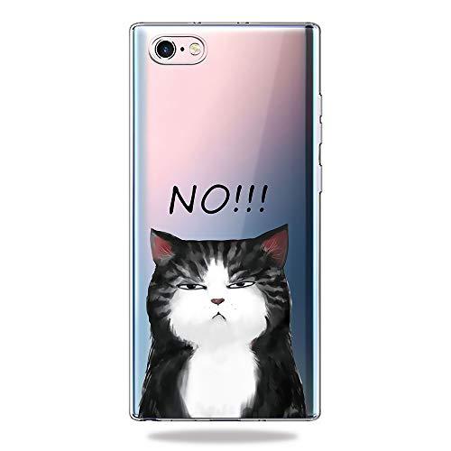 AChris Huawei Nova 4 Hülle Durchsichtig Silikon Transparent mit Muster Ultra-Dünn Stoßfeste Weiche Transparent Case Cover für Huawei Nova 4 - Katze