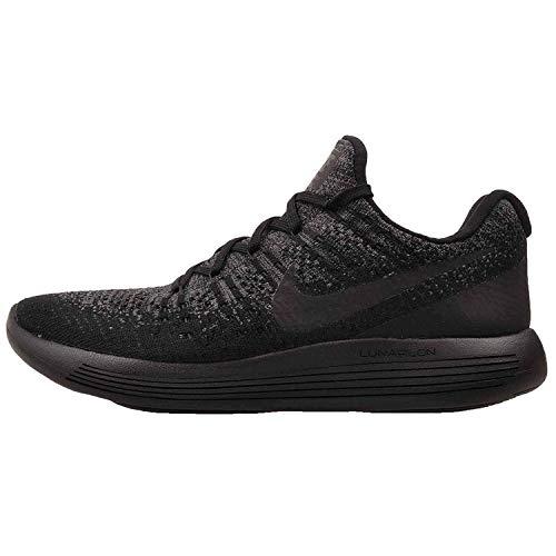 Nike Womens Lunarepic Low Flyknit 2 Running Shoe (9, Black/Dark Grey/Racer Blue/Black)