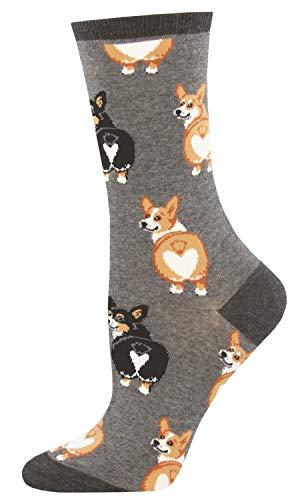 Socksmith Corgi Butt Socks Charcoal Heather Size 9-11, 1 EA
