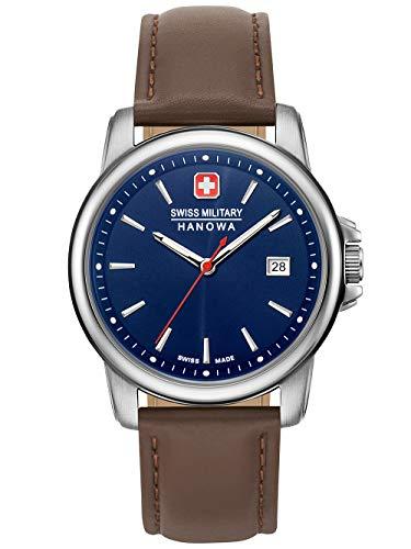 Swiss Military Hanowa Reloj Analógico para Unisex Adultos de Cuarzo con Correa en Acero Inoxidable 06-4230.7.04.003