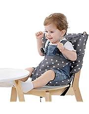 Vine Lättsits bärbar resa barnstol   justerbar, säkerhet, tvättbar   småbarn barnstol sittskydd   bekväm tyg resa barnstol passar i din handväska (grå)