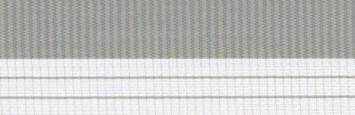 Doppelrollo mit Blende – Doppel Rollo – Kettenzug - 100 cm (Breite) x 180 cm (Länge) in Grau