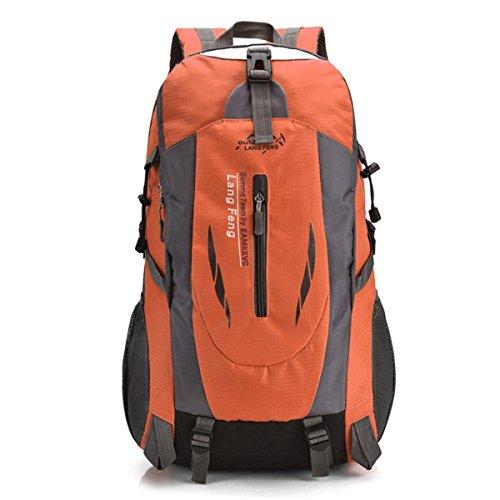 Sac à dos léger d'alpinisme imperméable à l'eau Oxford Comfort Pack Outdoor décontracté portable voyage vélo randonnée pédestre , orange
