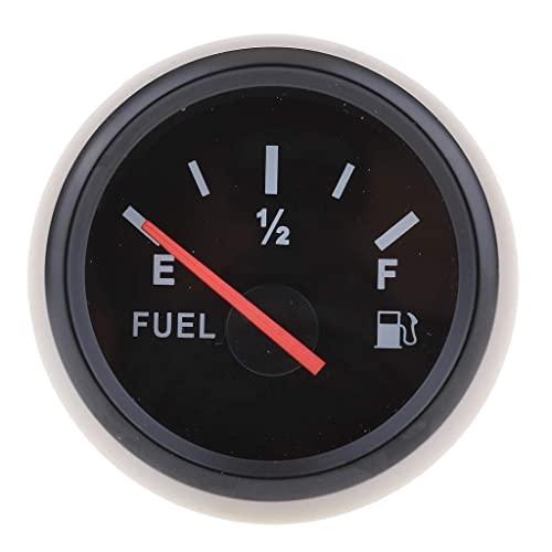 MENHUA Manómetros de Combustible, Medidor de Combustible LED de 52 mm, Medidor de Combustible Digital de Motocicleta (Negro 2)
