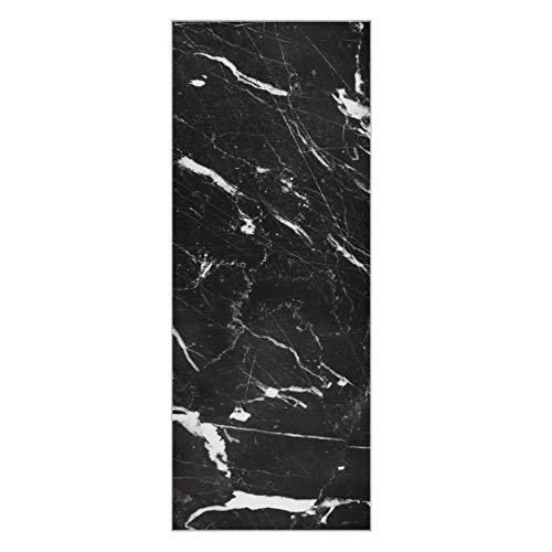 Toalla de Yoga Caliente Abstracto mármol Natural Negro Blanco Negro Esterilla de Yoga Lavable Toalla Antideslizante súper Suave para Esterilla de Yoga Adecuada para Playa, Fitness, Parque,