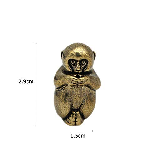 SculpturesQYZ Estatuas para jardín Mini Mono de latón Vintage con Soporte de Incienso Estatua Figura Escultura Ornamento Decorativo Juguete Regalo