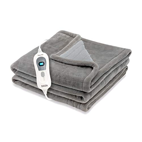 Daga Sort 150x100cm Manta Eléctrica Flexy Heat Softy Fleece, Gris Oscuro, 150x100