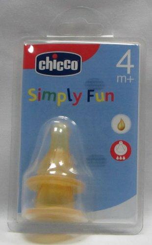 Chicco 2 Tettarelle Simply Fun, in caucciu 3 fori - 4+ mesi [71304.01]