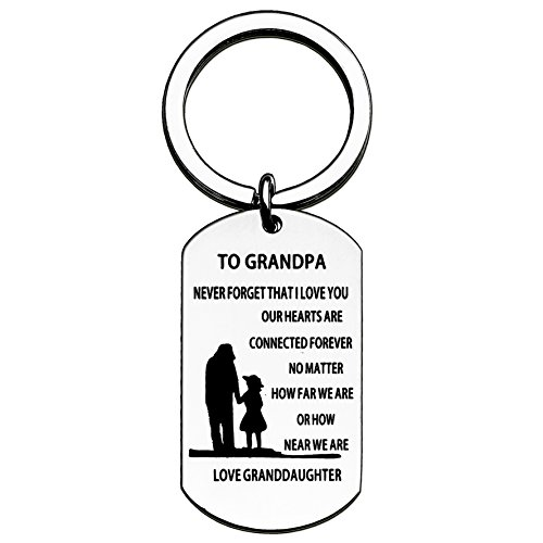 Grandpa Granddaughter Key Chain for Men - Never Forget That i Love You no Matter How far we are (Grandpa Granddaughter)
