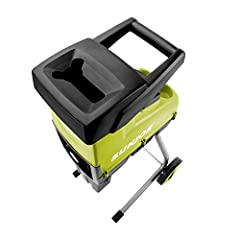 VERSATILE: Ideal for turning leaves, twigs, brush, and branches into nutrient-rich mulch ; Rated Voltage 120 V ~ 60 Hz POWERFUL: 15-amp motor effectively chips and shreds branches up to 1. 73-inches thick SAFETY: Safety hopper with locking knob prev...