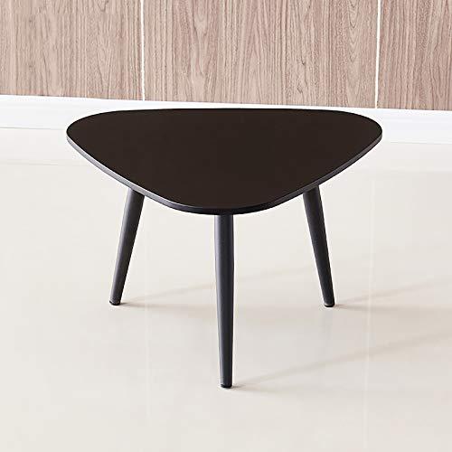 D&LE Massivholz Dreieck Telefontisch,Einfach Nachtkommode Couchtisch,Mini Couch Snacktisch Für Schlafzimmer Wohnzimmer-Schwarz 40x60cm(15.7x23.6inch)