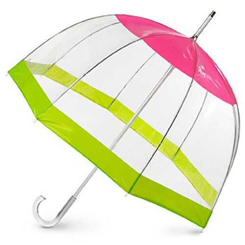Totes Clear Bubble Umbrella (One Size, Pear Rose)