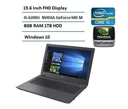 "Acer 15.6"" Flagship Full HD (1920 x 1080) Laptop (Latest 6th Intel Core i5 6200U, 8GB RAM, 1TB HDD, HDMI, ultra-fast WIFI 802.11AC, Windows 10"
