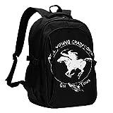 EDGHUOEIH Neil Young Crazy Horse Mochila de moda al aire libre duradera impermeable mochila para portátil mochilas de viaje con puerto de carga USB/auriculares