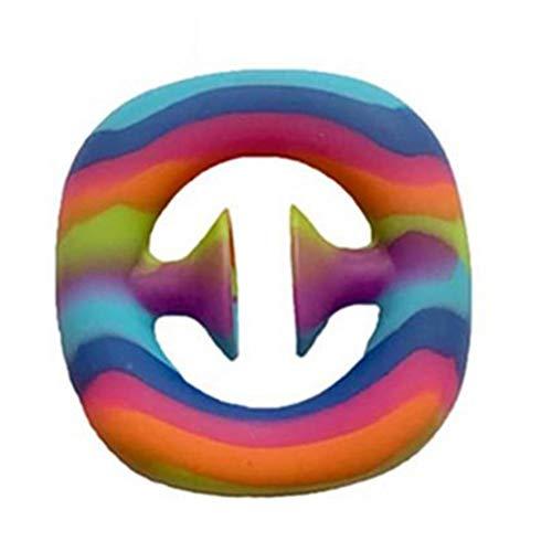 Juguete de arco iris, juguete para apretar y apretar, juguete de mano para fiesta, hacer ruido, agarre de dedo sensorial, juguete para niños y adultos