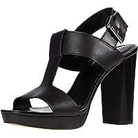 Michael Kors Women's Becker T Strap Sandals (Black)