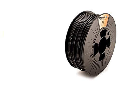 BASICFIL PLA  2.85mm, 1 kg, 3D printing filament , Black