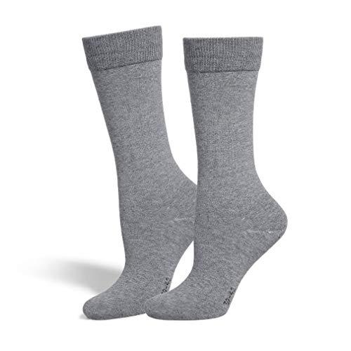 Safersox Classic Mückenschutz-Socke Socken - Hellgrau meliert, 43-46