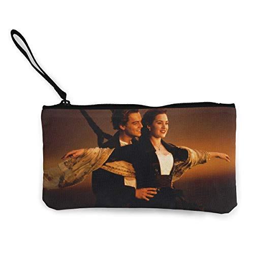 Titanic Cash Monederos con cremallera de lona con correa de muñeca para teléfono móvil