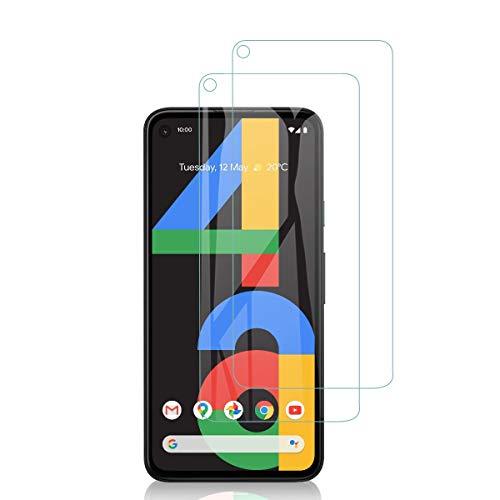 QULLOO Panzerglas für Google Pixel 4a 4G (Nicht für 5G Edition geeignet), 9H Hartglas Schutzfolie HD Bildschirmschutzfolie Anti-Kratzen Panzerglasfolie Handy Glas Folie für Google Pixel 4a 4G Smartphone