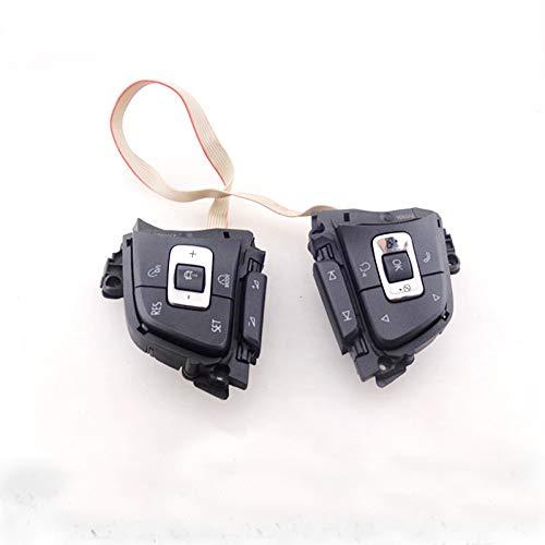 Tecla Multifuncional del botón del Volante con el Interruptor de Revestimiento/Ajuste para el Golf 7 mk7 / Ajuste para SportsVan/Fit for Passat B8 / Fit para la Variante (Color : Black)