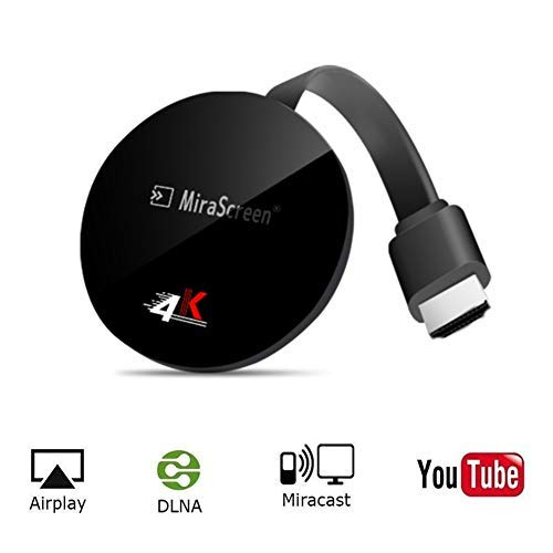 SmartSee Miracast Wireless Display Receiver 1080P HDMI WiFi Media Streamer Adapter Support Chromecast YouTube Netflix Hulu Plus Airplay DLNA TV Stick for Android/Mac/iOS/Windows (2.4G + Google Home)