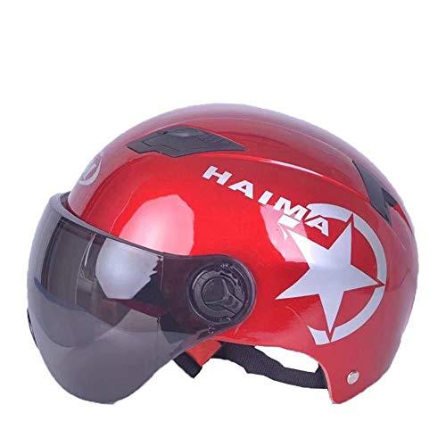 Draagbare helm, veiligheidsbescherming, licht en verstelbaar, comfortabel, zonwering, uv-bescherming, ademend. Rood
