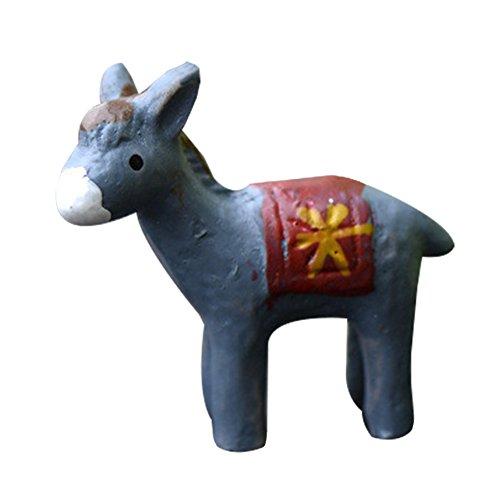 Emorias 1PCS Gartendeko Micro Landschaft Kleiner Esel Tischdekoration Deko-Figur Dekoration Dekoration Wohnaccessoires Geschenk