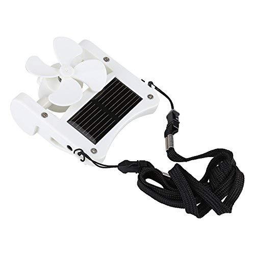 Mini ventilateur solaire à pince, à accrocher sur un chapeau