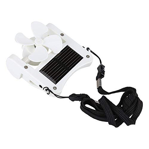 Portable solarbetriebene Clip Fan Mini Lüfter Hut Cap Fan Reisen Sommer Camping