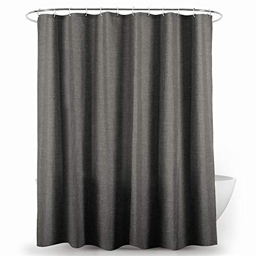 ARTGHJL Shower Curtain, Polyester Shower Curtain, Anti-Mould, Anti-Bacterial, Washable, with 12 Shower Curtain Rings, for Bathroom (200 x 180 cm)