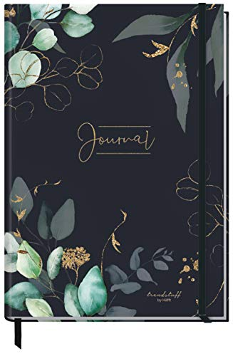 Bullet Journal dotted A4+ mit Gummiband [Mondscheinblüten] 156 Seiten | Notizbuch gepunktet, Skizzenbuch, Tagebuch von Trendstuff by Häfft | nachhaltig & klimaneutral