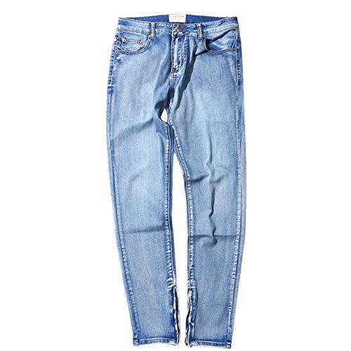 Segindy Pantalones Vaqueros para Hombre, Ajustados, Rectos, de Calle, con Personalidad, cómodos, elásticos, de Tendencia, Pantalones de Mezclilla Que Combinan con Todo, para Todas Las Estaciones XL