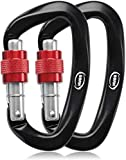 BSRN Rock Climbing carabiner Clip-Locking and Heavy Duty 25KN-Certified for Climbing And Rappelling-Hook Holds 5511lbs Carabiners-Dog...