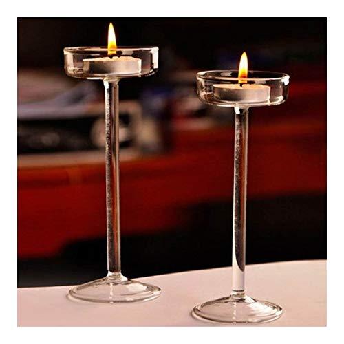 Fengdp Schmiedeeisen Hohe Kerzenständer Kerzenhalter aus Glas Romantisches Abendessen Dekoration (Color : 11CM)