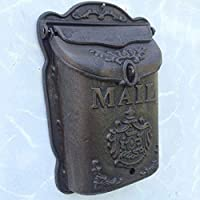 レターボックスクリエイティブウォールマウントラージレトロメールボックス鋳鉄工芸レトロエンジェルメールボックスポストボックスウォールメールボックスセキュリティメールボックス
