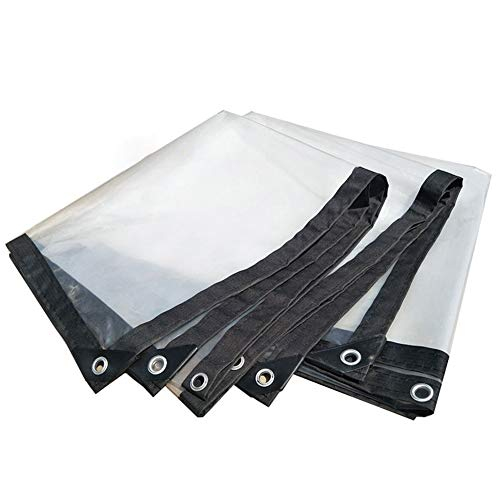 SHIJINHAO Tarpaulin Waterproof Heavy Duty-Universal Tarp Sheet-Premium Quality Cover 120 GSM Transparent Plastic Plates (Color : Clear, Size : 2x3m)