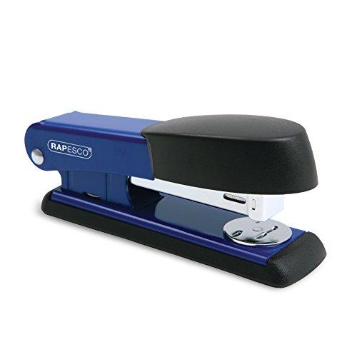 Rapesco Bowfin - Grapadora metálica, 25 hojas de capacidad, usa grapas 26 y 24/6 mm, color azul