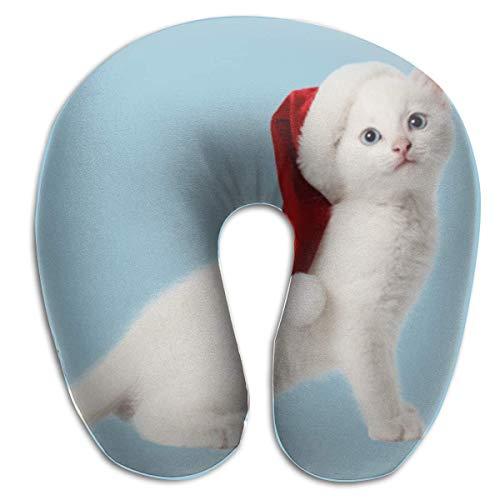 Almohada en Forma de U, Cuello, Navidad, Gato, Viaje, Almohada Multifuncional, Coche, avión