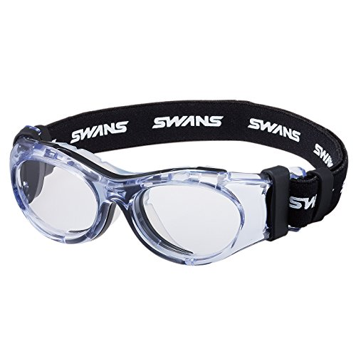 SWANS SVS-600N Eye Guard for 10-14 Years, Black x Clear Sports Glasses Frame