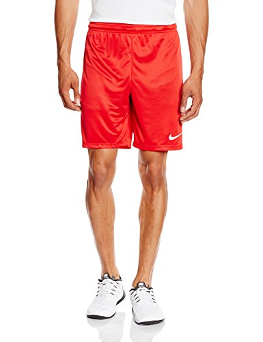 Nike Park II Knit Short NB Pantalón corto, Hombre, Rojo/Blanco (University Red/White), M